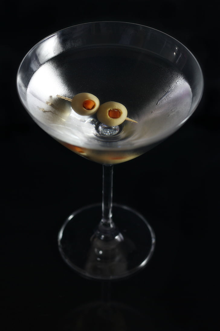 jook, Martini, jää, klaas, alkoholi, kokteil, Baar