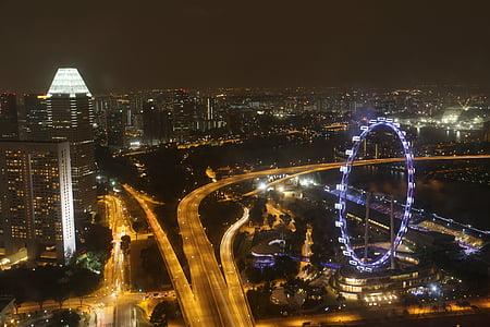 Singapura, Flyer, bianglala, pemandangan, Singapore flyer, Singapura landmark, Sungai Singapura