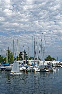 berlayar, boot, Kolek, air, kapal layar, Danau, biru