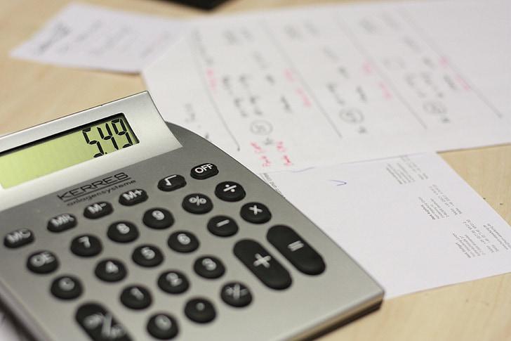 Калкулатор, таблица, бил, работа, плащам, финанси, Бизнес