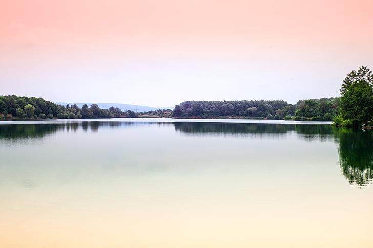 water, lake, lake view