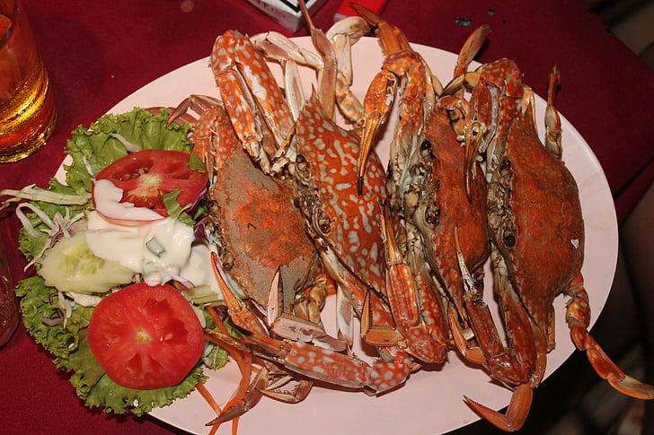aliments, crancs, marisc, gurmet, sopar