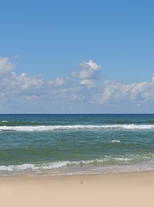 beach, sand, sea, ocean, atlantic, side, sky