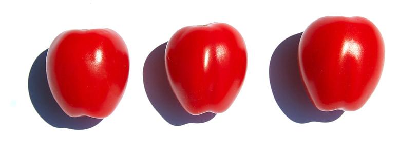 トマト, 整列, 赤, 食品, トマトの赤, 野菜