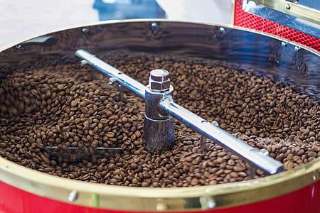 koffie, koffiebonen, bonen, gebraden, koffiebranderij, Boon, cafeïne