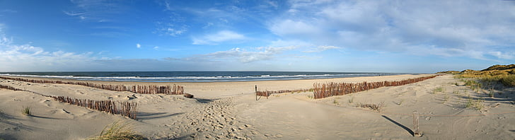 Amrum, Beach, Sea, Pohjanmeren, Nordfriesland, laaja, Panorama