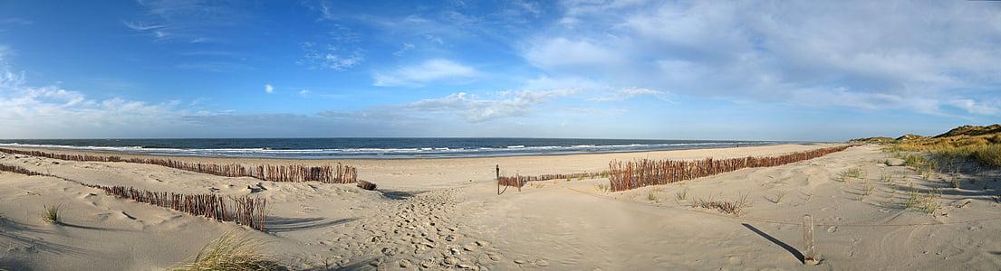 Краеведческий музей Амрума, пляж, мне?, Северное море, Северная Фризия, широкий, Панорама