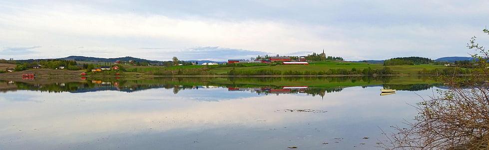 Norge, fjorden, landskap, vatten, arten av de