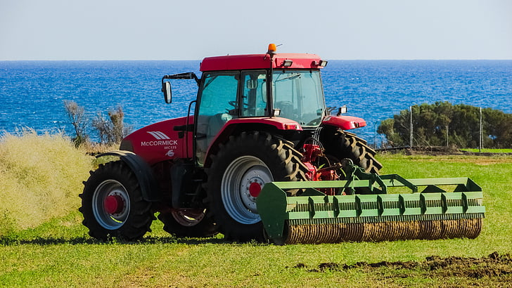 tractor, field, rural, agriculture, farm, equipment, machinery