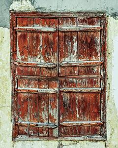 okno, drewniane, brązowy, ściana, Strona główna, Architektura, tradycyjne
