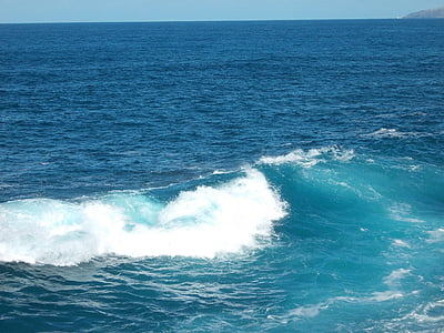 στη θάλασσα, κύμα, νερό, φύση, θαλασσινό νερό, Ατλαντικού, Όμορφο