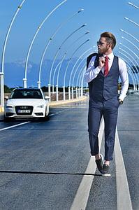 fashion, male, beautiful, m, car, street, road