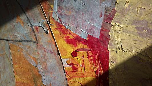 ภาพวาด, แมโคร, สี, สีน้ำมัน, ศิลปินวาดภาพ, รูปแบบ, สีส้ม
