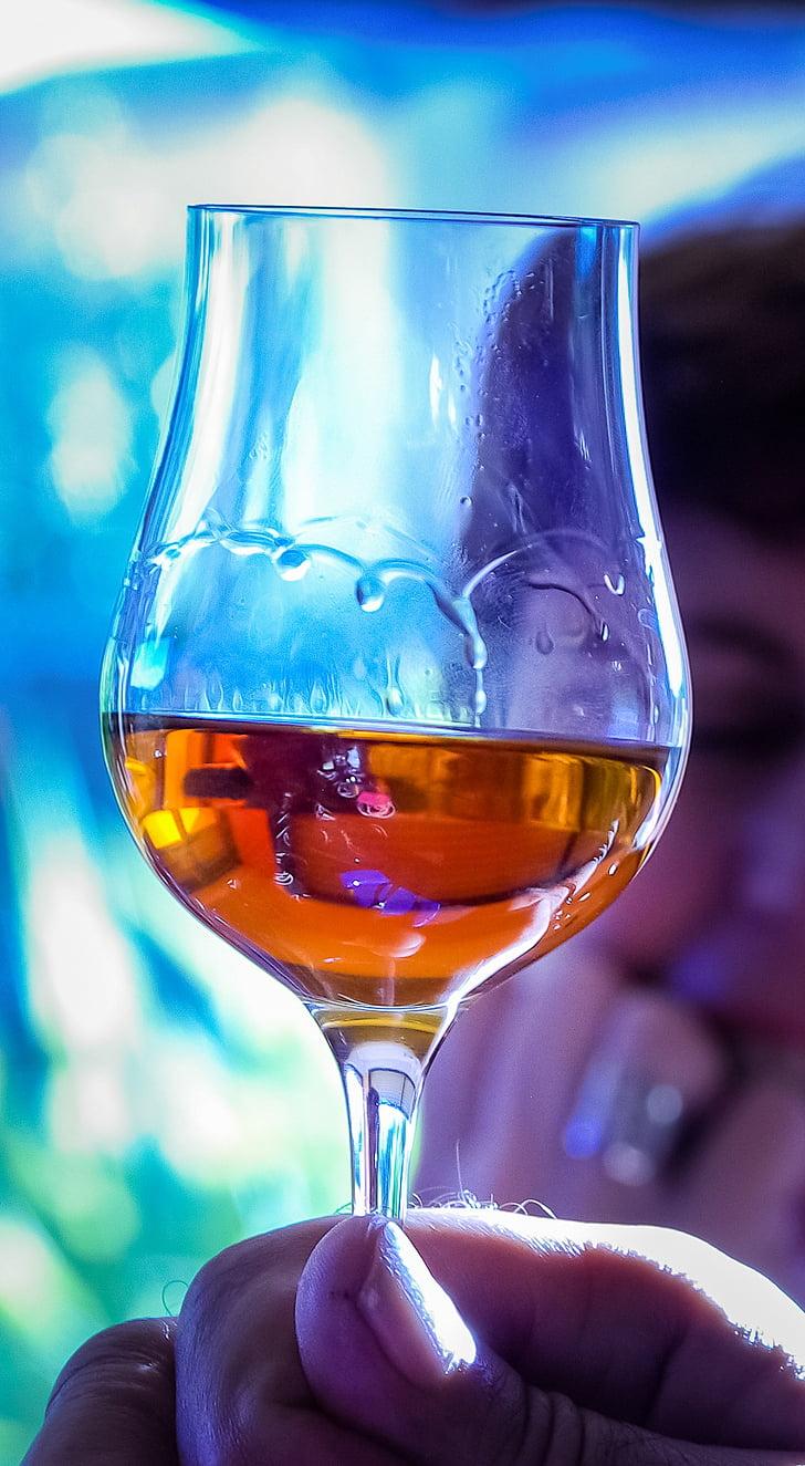 vidre, Conyac, degustació, vi, l'alcohol, beguda, Wineglass