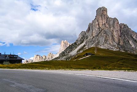 giaupass, dolomites, mountains, landscape