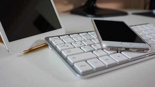 smartphone, comprimit, teclat, pantalla tàctil, iPad, telèfon mòbil, tecnologies cel·lulars