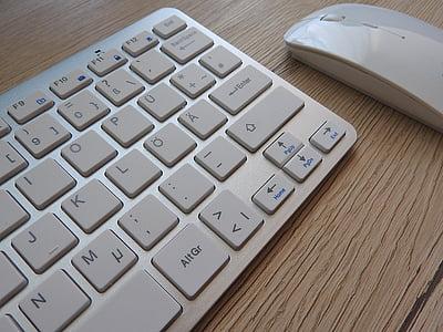keyboard, mouse, desk, workplace, computer keyboard