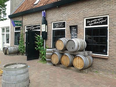 ferme, vin, navires, tonneaux de vin, tonneaux en bois, baril, tests