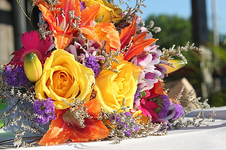 flowers, wedding, bouquet, wedding flowers, floral, romance, marriage