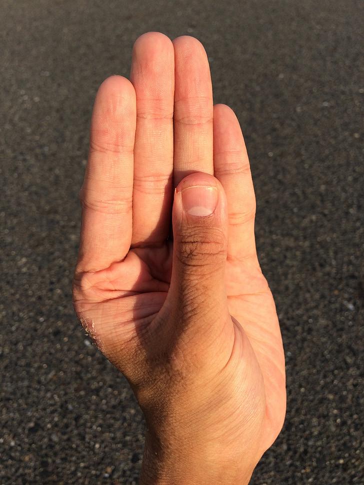 hand, vinger, nagel, duim, man, Palm, jonge