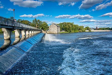 Falls, Bridge, River, vesi, Kanada, luonnollinen, Park
