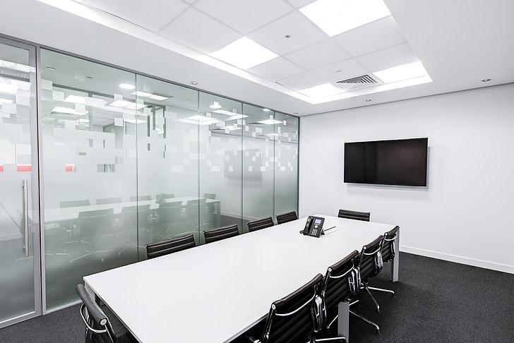 salle de réunion, Tableau, écran, Conférence, entreprise, Bureau, chambre