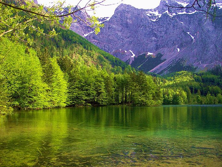 Maritima Alperna, Bergsee, landskap, bergen, Fjällsjö, solen, Mountain