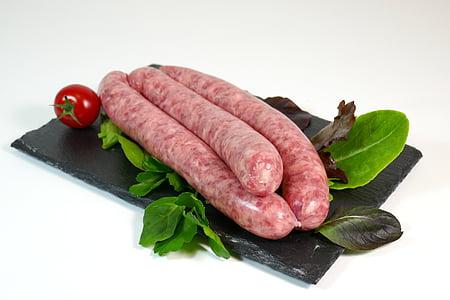 ソーセージ, 肉, グリル, 食品, 食べ物や飲み物, 牛肉, ステーキ