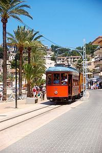 tram, urban transport, gleise, train, road, transport, mallorca
