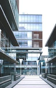 arquitectura, edifici, vidre, edifici d'oficines, moderna, edifici d'oficines, estructura de construcció