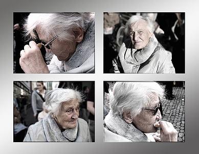 dipendente, demenza, donna, vecchio, età, morbo di Alzheimer, Casa di riposo