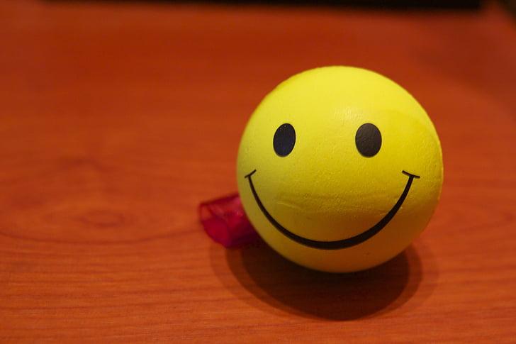 smile, ball, yellow