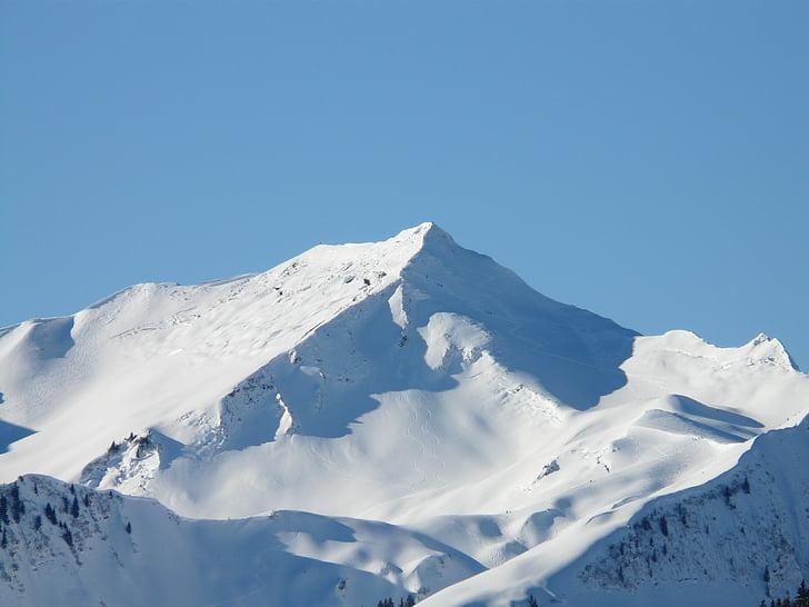 guentlespitze, Alpine, Allgäu, núi, Snow dome, núi tuyết, wintry