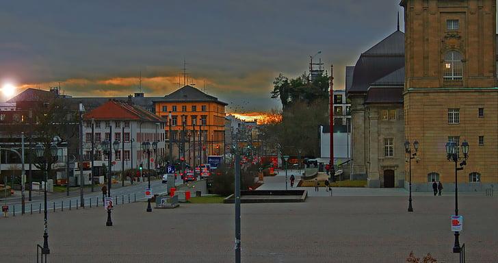 Захід сонця, романтичний, abendstimmung, небо, вечірнє небо, Архітектура, екстер'єру будівлі