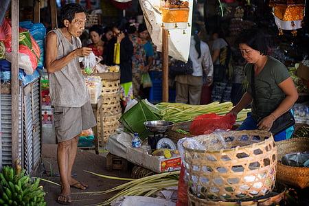 market, market woman, kund, man, woman, bali