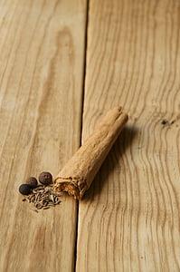 koor, kaneeli, Suurendus:, koostisosad, seemned, vürtsid, puit