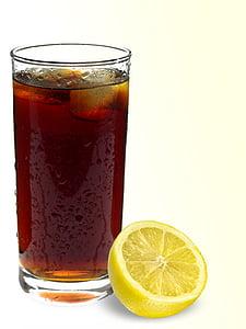 コーラ, ドリンク, リフレッシュメント, erfrischungsgetränk, おいしい, ガラス, レモネード