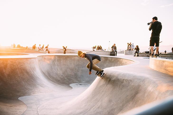 action, Balance, amusement, à l'extérieur, gens, Patinage, planche à roulettes