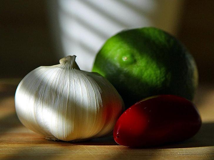 piment, poivrons, piments, limes, ampoules, ail, légumes