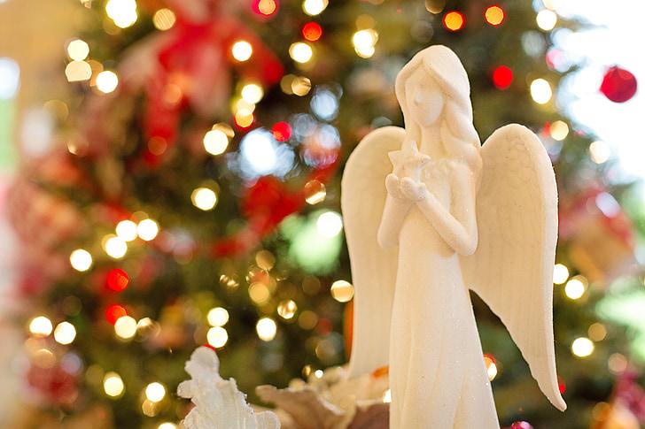 angyal, Karácsony, karácsonyi angyal, Holiday, Xmas, dekoráció, ünnepe