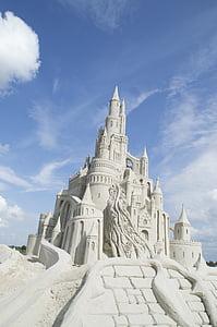sand sculpture, sand, building, architecture, church, famous Place