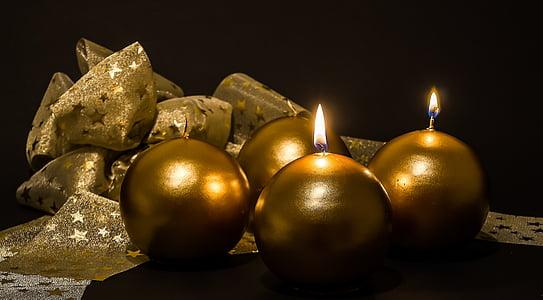 Advent, 2 megjelenése, Adventi gyertyák, karácsonyi ékszer, gyertyák, második gyertya, fény