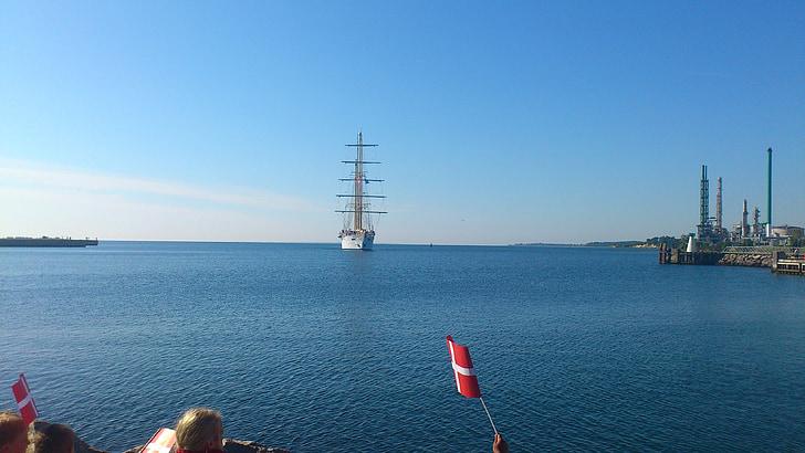 cruise, ship, holidays, harbor, city, blue, wonderful