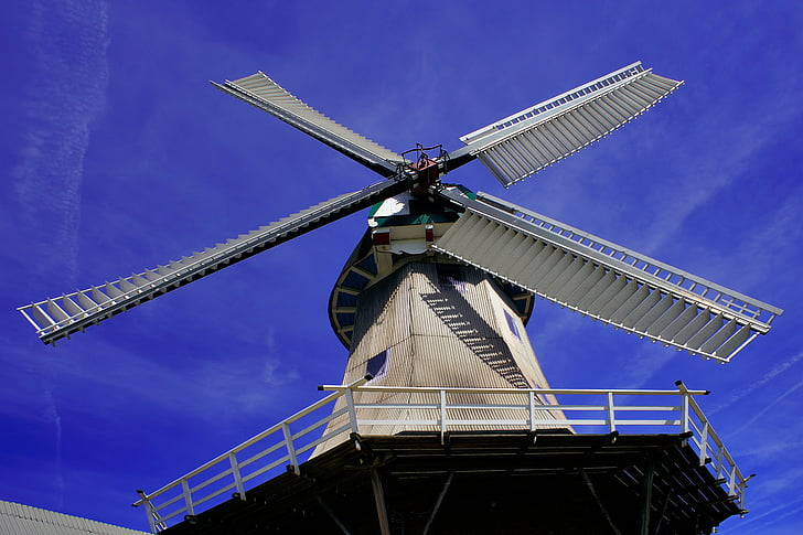 вітряний млин, Перспектива, крило, Історично, Будівля, вітроенергетики, небо
