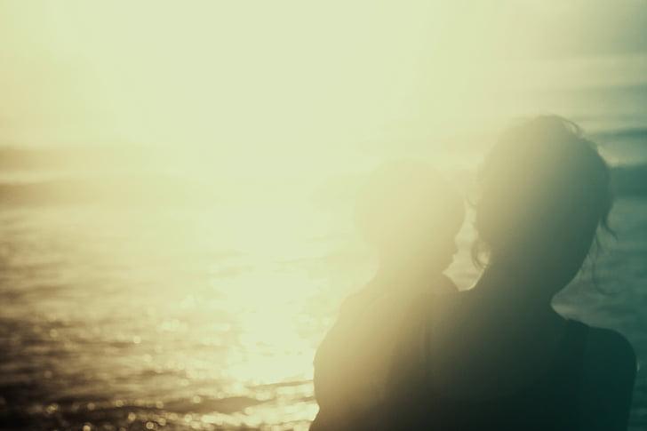 platja, entelar, nen, resplendor, mare, mare i el nen, oceà
