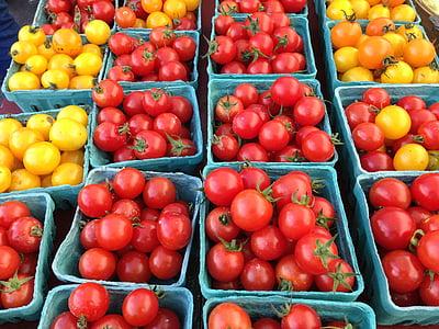 トマト, 収穫, 野菜, 食品, 野菜, ダイエット, 健康食品