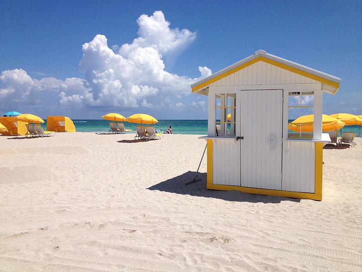 beach, umbrella, ocean, seaside, vacation, relaxation, holiday