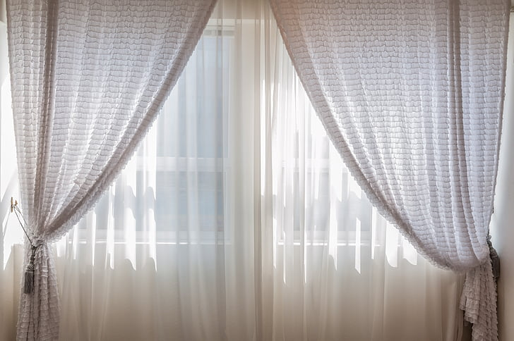indoor, curtain, window, cozy, includes, light, morning