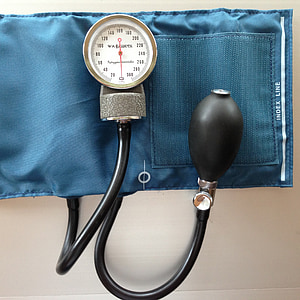 Bloeddrukmeter, bloeddruk, bloeddruk manchet, medische, apparatuur, gezondheidszorg en geneeskunde, stethoscoop