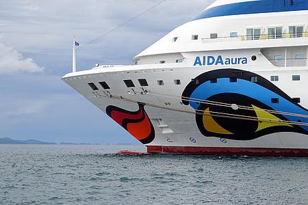 kryssningsfartyg, bugg, fartyg, Aida, Cruiser, kryssning